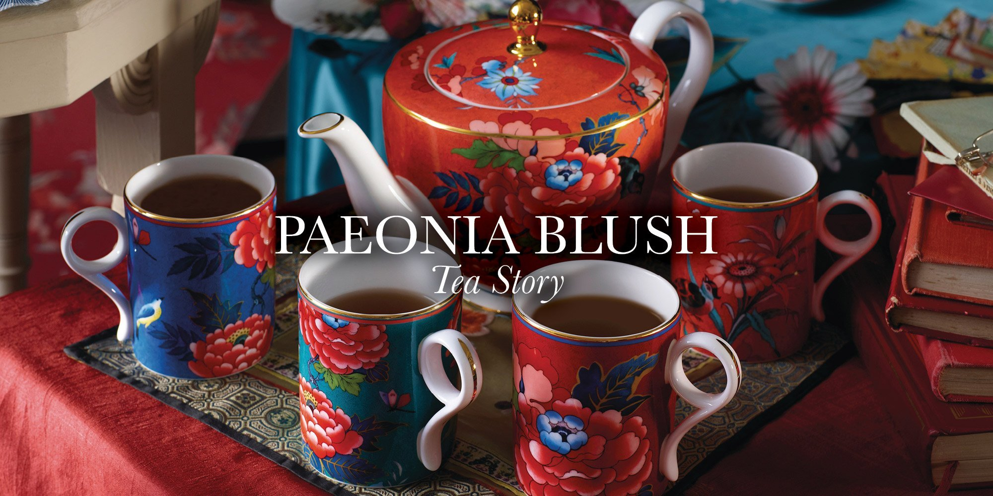 paeonia blush teaware top