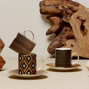 Arris Espresso Cups & Saucers Set of 4