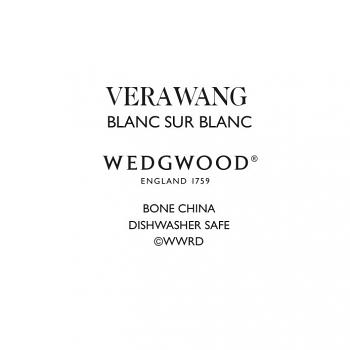 Vera Wang Blanc Sur Blanc Rim Soup 23cm
