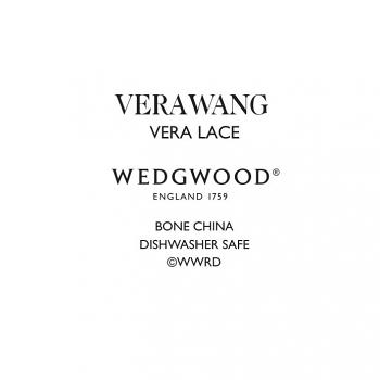 Vera Wang Lace Platinum Oval Dish 39cm