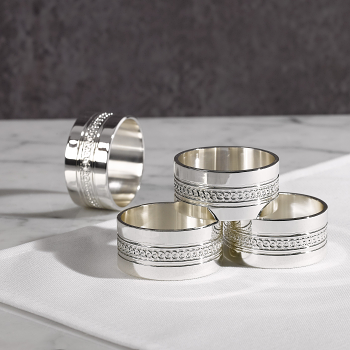 Simply Wish Napkin Rings Set 4