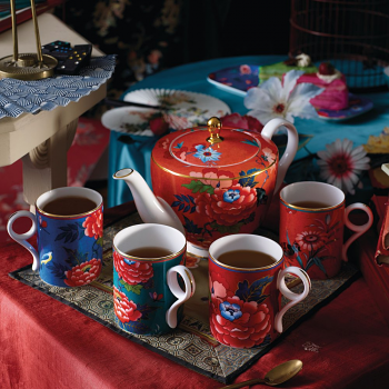 Paeonia Blush Teapot Coral