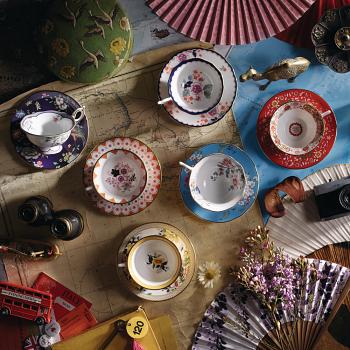 Wonderlust Set of 4 Teacup & Saucers