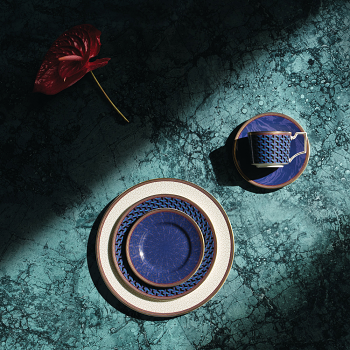 Byzance Teacup and Saucer Blue