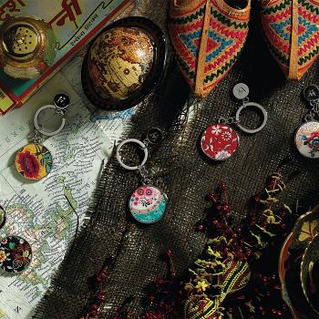 Wonderlust Oriental Jewel Keyring