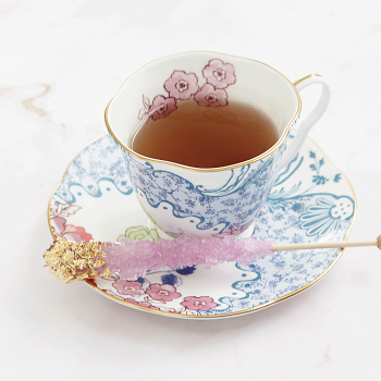 Butterfly Bloom Teaware Blue And Pink Teacup & Saucer