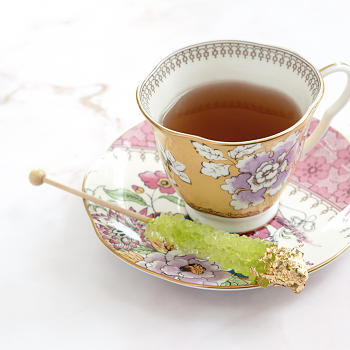 Butterfly Bloom Teaware Yellow Teacup & Saucer