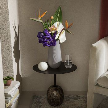 Jasper Folia Mink Tall Vase 30cm