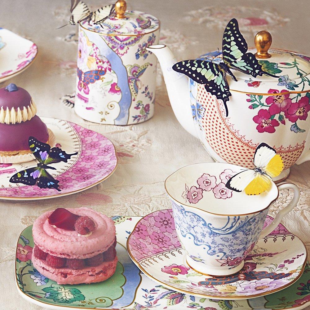 Butterfly Bloom Teaware Sugar & Creamer