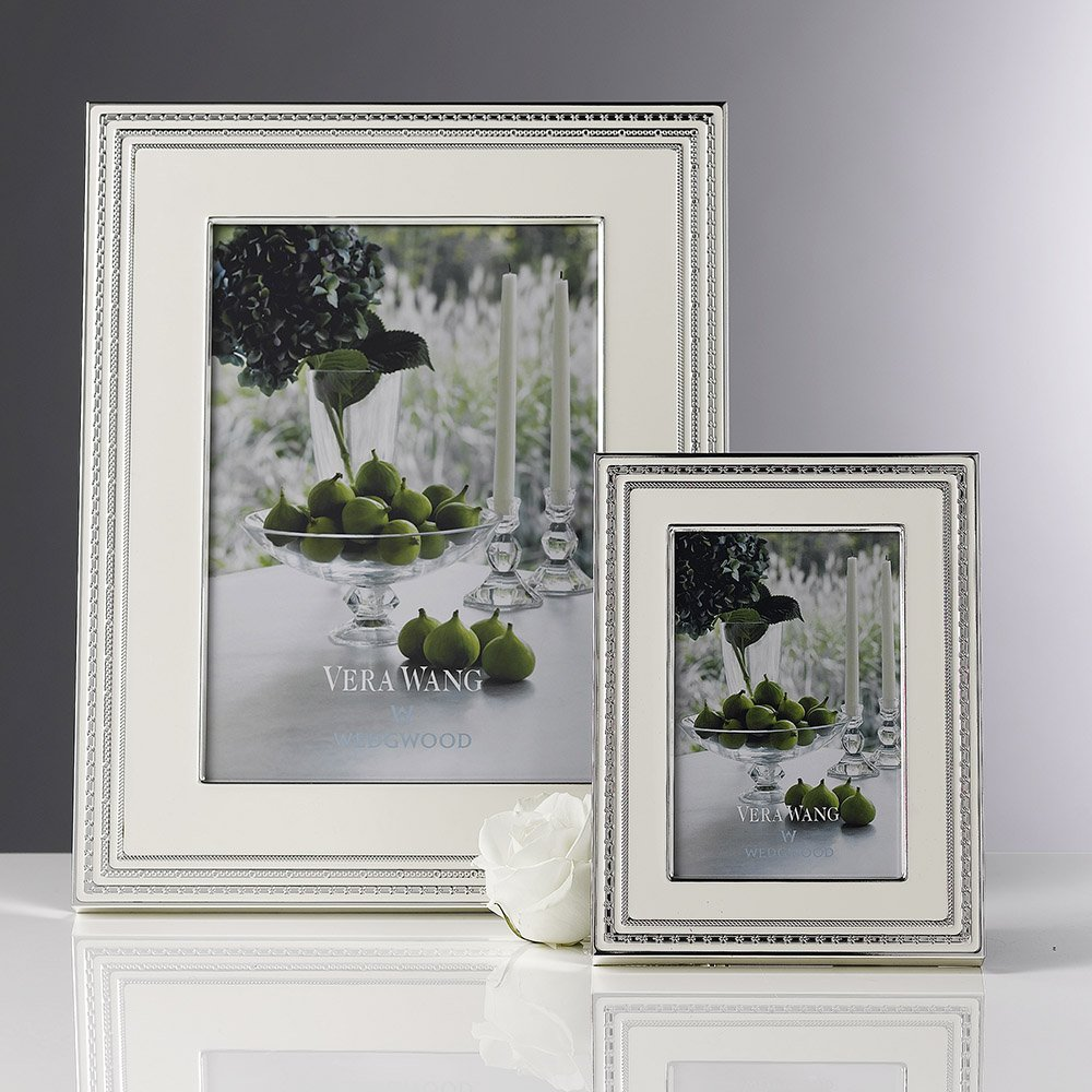 Vera Wang Wedgwood With Love Blanc Silver Giftware Frame