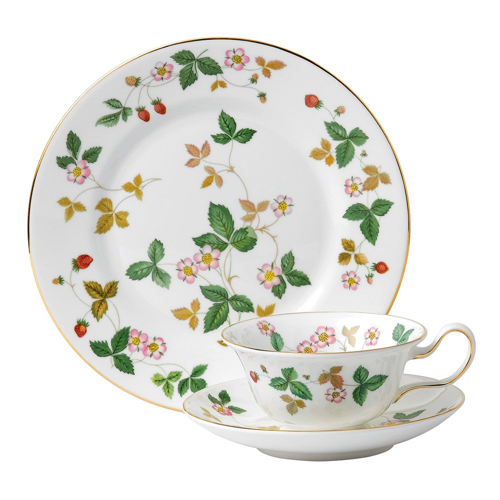 Wedgwood Baby Gifts Australia : Wedgwood wild strawberry peony teacup saucer plate set