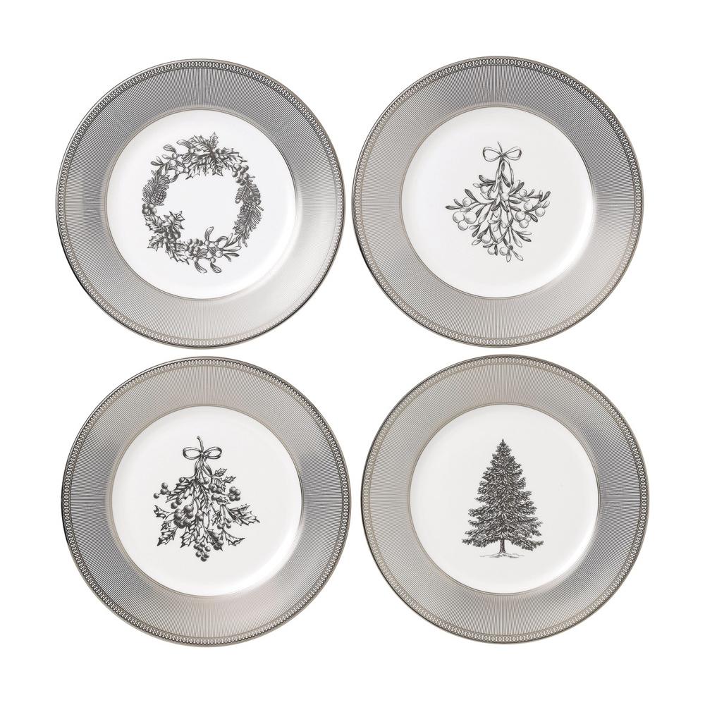 Christmas Dinnerware.Christmas Plates 20cm Set Of 4