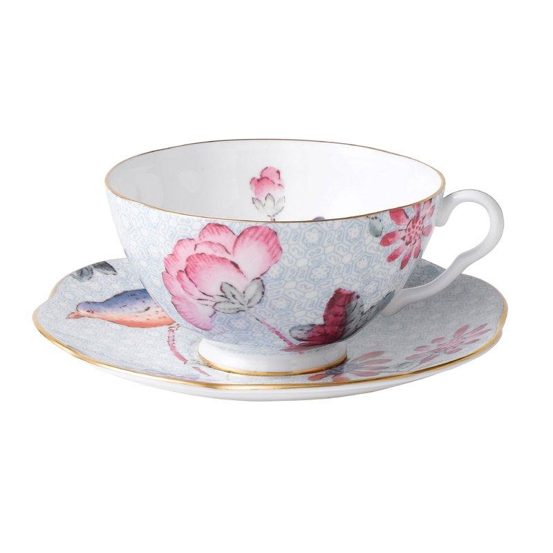 Cuckoo Blue Teacup & Saucer Set