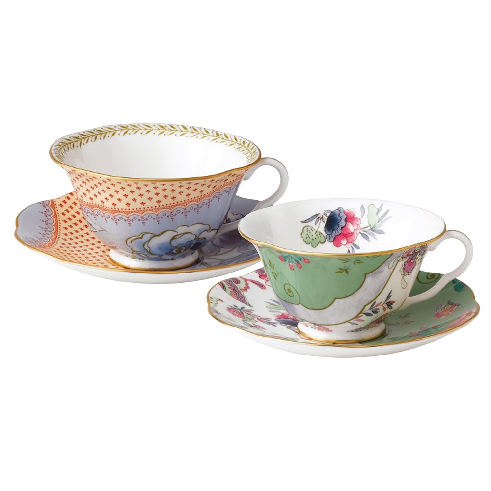 Wedgwood Baby Gifts Australia : Wedgwood butterfly bloom teacups saucers gift set