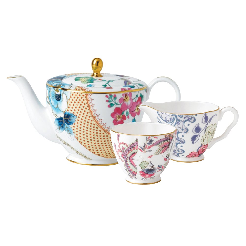 Wedgwood Baby Gifts Australia : Wedgwood butterfly bloom teapot ltr sugar and creamer