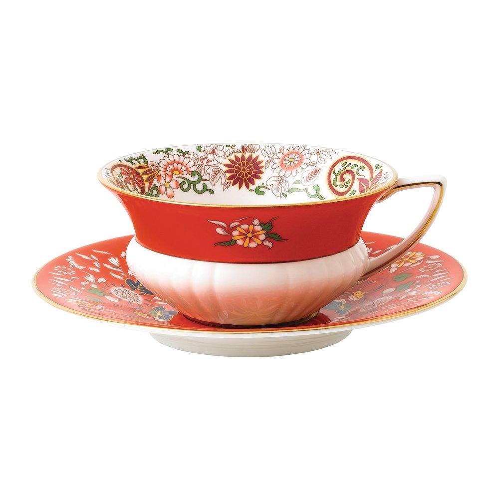 Wedgwood Baby Gifts Australia : Wedgwood wonderlust crimson oriental teacup saucer