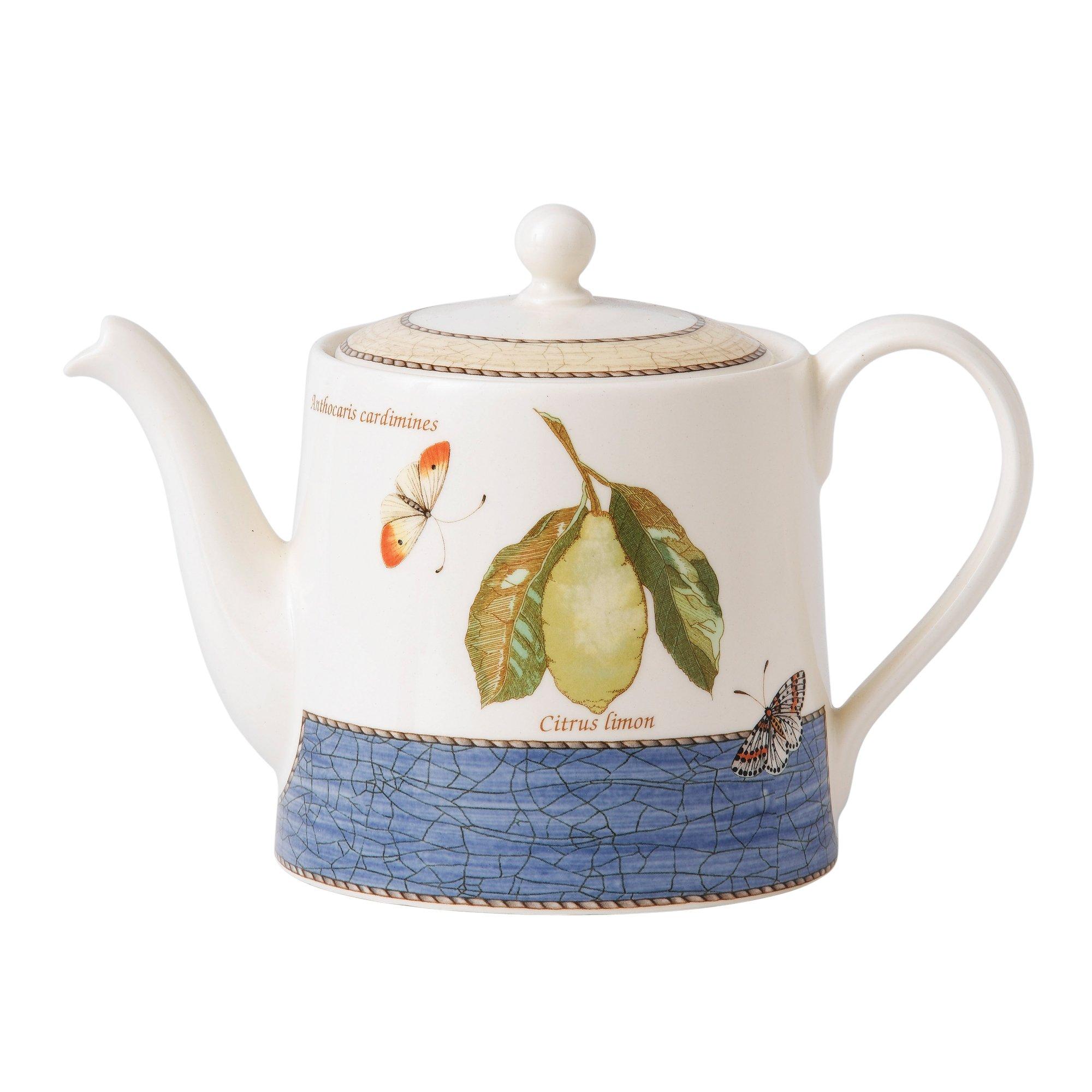 Sarah's Garden Teapot 1.17 Ltr Blue