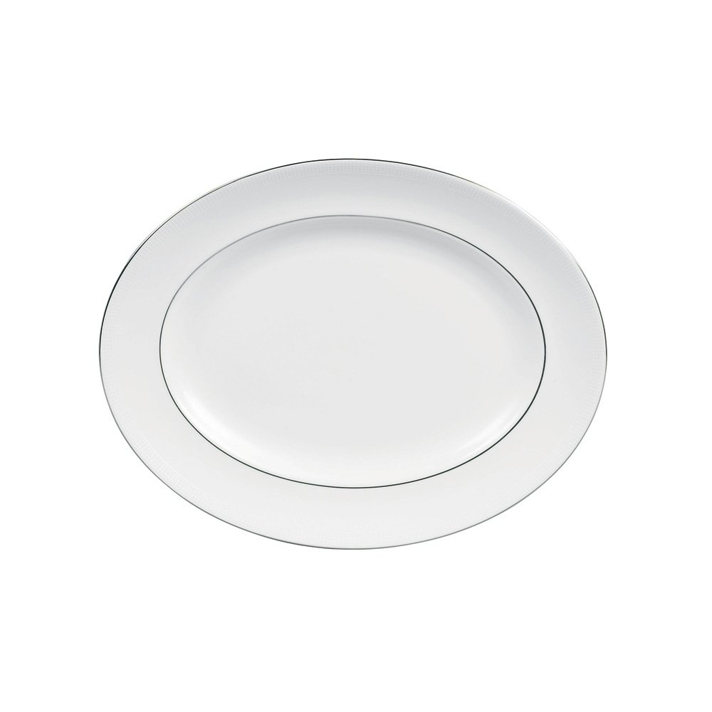 Vera Wang Blanc Sur Blanc Oval Dish 39cm