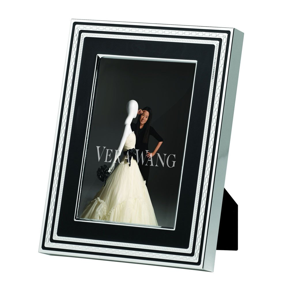 vera wang wedgwood with love noir silver giftware frame 4x6 10x15cm