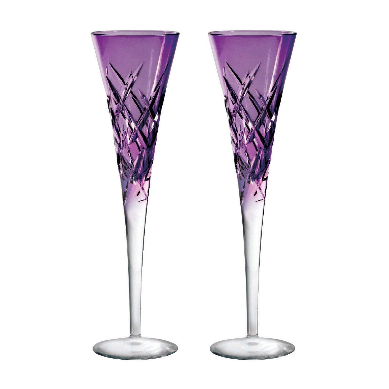 Vera Wang Duchesse Encore Lavender Flute Pair