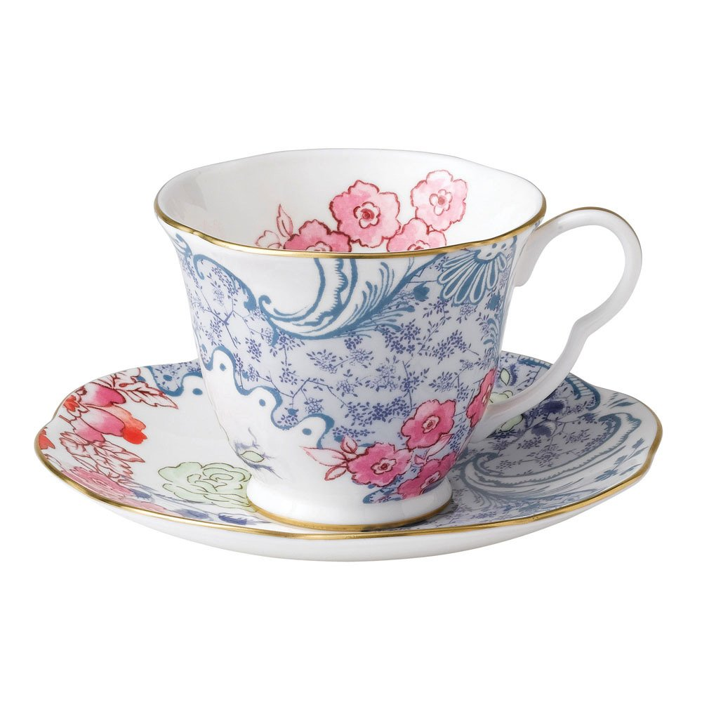 Wedgwood Baby Gifts Australia : Wedgwood butterfly bloom teaware blue and pink teacup