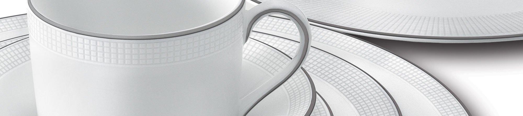 Vera Wang White Amp Platinum Formal Dinnerware Plate Sets