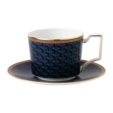 Wedgwood Byzance Teacup and Saucer Blue