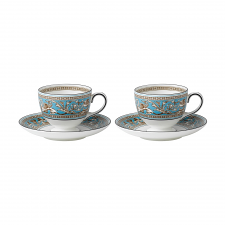 Florentine Turquoise Teacup & Saucer Set of 2