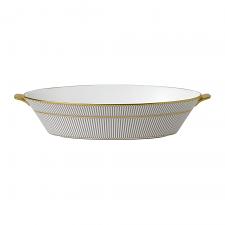 Anthemion Grey Oval Bowl 1.3Ltr