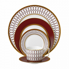 Renaissance Red 5 Piece Place Setting