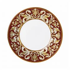 Renaissance Red Florentine Accent Plate 23cm