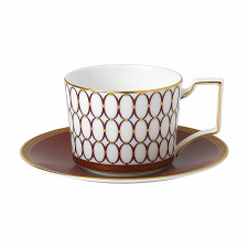 Renaissance Red Teacup & Saucer