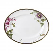 Hummingburd Oval Platter White