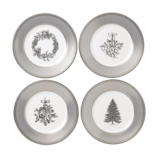 Christmas Plates 20cm Set of 4