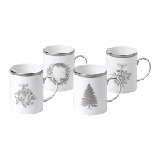 Christmas Mugs Set of 4