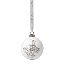 Fine Bone China Mistletoe Ornament 7cm
