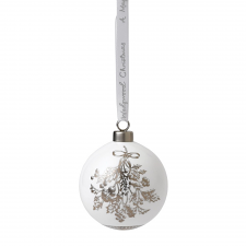 Fine Bone China Holly Ornament 7cm
