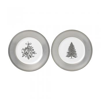 Winter White Set of 2 Plates 20cm