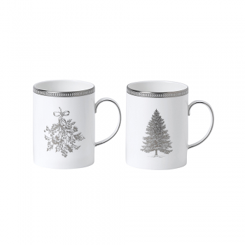 Winter White Set of 2 Mugs