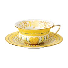 Harlequin Collection Yellow Ribbons Teacup & Saucer