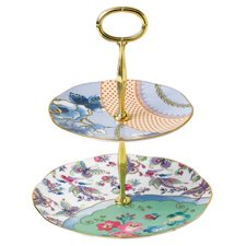 Butterfly Bloom 2 Tiered Cake Stand