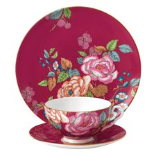 Wedgwood Tea Garden Raspberry 3 Piece Set
