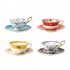 Wonderlust Set of 4 Teacup & Saucers
