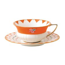 Wedgwood Wonderlust Peony Diamond Teacup & Saucer