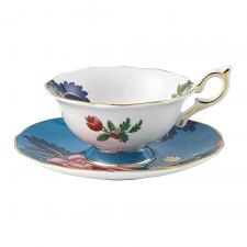 Wonderlust Sapphire Garden Teacup & Saucer 140ml