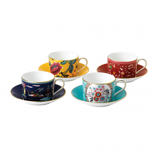 Wonderlust Teacup & Saucers Set of 4