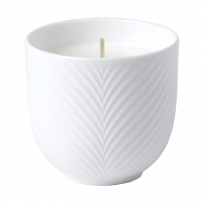 White Folia Filled Candle 8cm