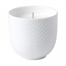 White Folia Filled Candle 8cm