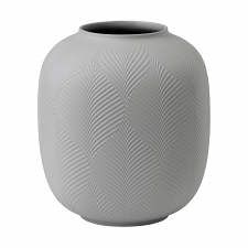 Jasper Folia Grey Rounded Vase 21cm