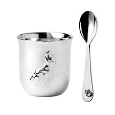 Peter Rabbit Silver Egg Cup & Spoon